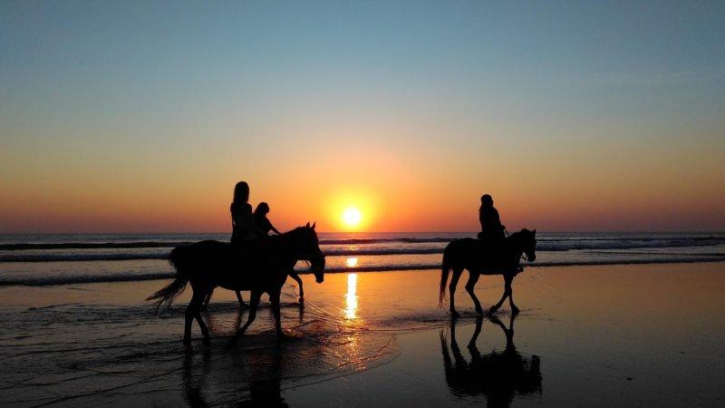 Promenade coucher de soleil débutants