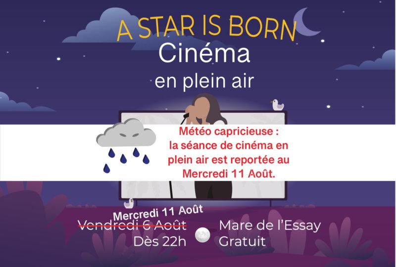 Cinéma en plein air reporté
