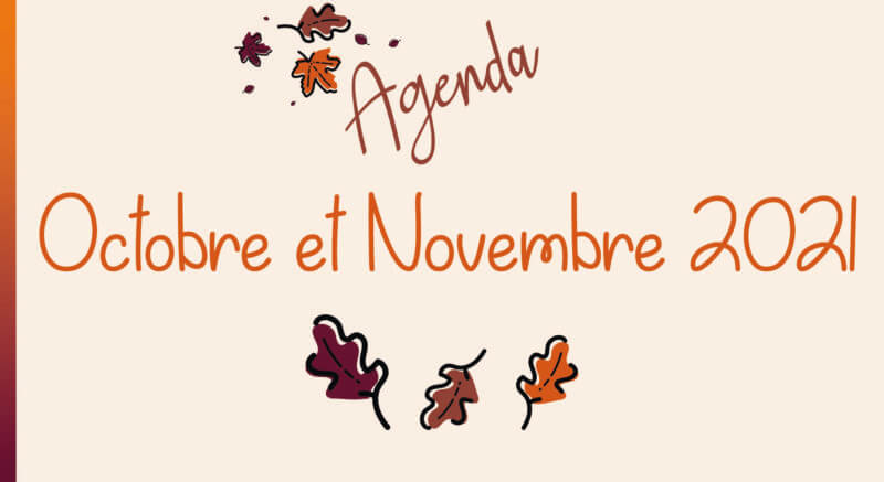 Octobre – Novembre : programme des animations